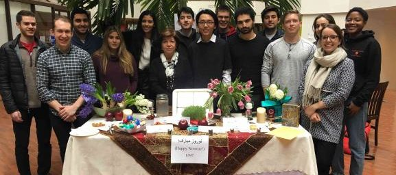 Persian minor students and faculty